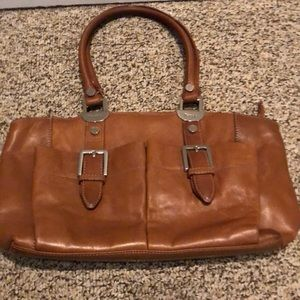 Tignanello soft caramel leather bag